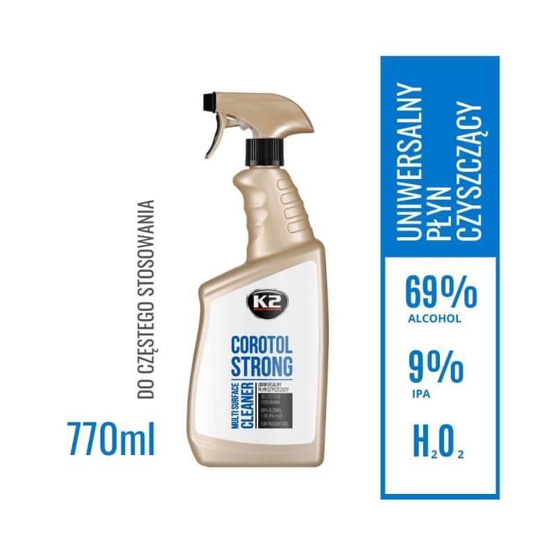 K2 COROTOL STRONG 770ml PŁYN DO DEZYNFEKCJI POWIERZCHNI 69% ALK.
