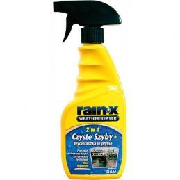 RAIN-X 2w1 500ml CZYSTE SZYBY + WYCIERACZKA W PŁYNIE
